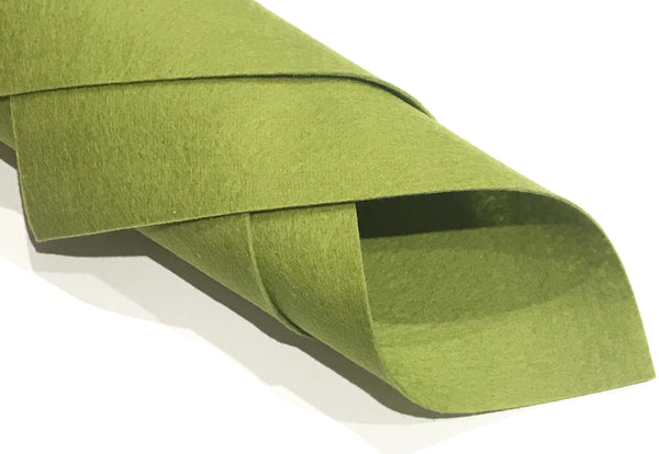 "1mm Olive Green Merino Wool Felt 8 x 11"" Sheet - No. 41"