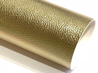 Pale Gold Metallic Leatherette 1.2mm Faux Leather Sheet  A4 - New Stock