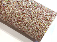 Christmas Cheer Chunky Glitter Fabric Sheet Thick A4 or A5 Sheets Red Gold White Sprinkled Mix Glitter