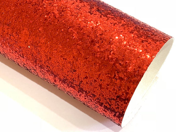 Red Glitter Fabric Sheet 0.7mm Thick Christmas Red Glitter A4 Sheets