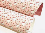 Rosey Bunny Merino Wool Felt or Fine Glitter backed Fabric Sheets