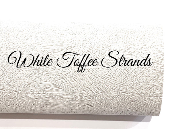 White Toffee Strands Faux Leatherette A4 sheet
