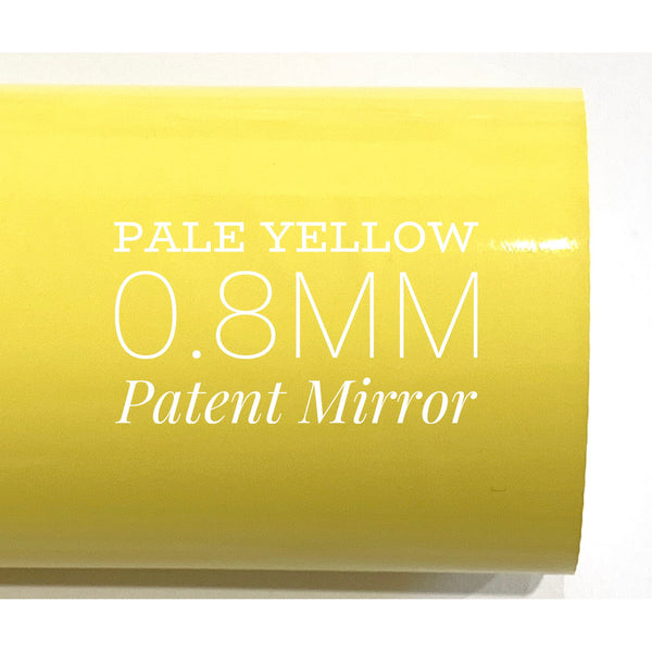 Pale Yellow Patent Leather A4 Sheet Glossy Smooth PU Leatherette - Light Yellow