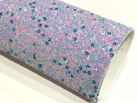 Aqua Lilac Dreams Multicolour Chunky Glitter Fabric -  A4 Sheet