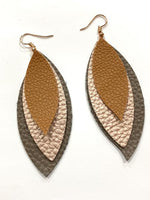Leaf Drop Earring Steel Rule Die - 3 Sizes on Die - Sizzix Big Shot Compatible