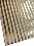 Gold Metallic Stripe Glitter Fabric Sheet