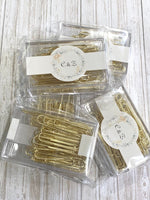 70 x Gold Paper Clips 50mm