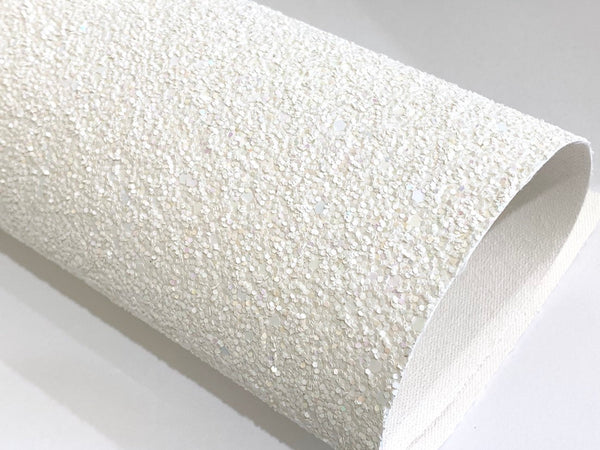 White Chunky Glitter Angels Dust  A4 or A5 Sheets 0.8mm Thickness