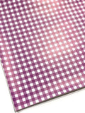 Smooth Purple White Plaid Leatherette Sheet