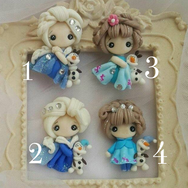 Frozen Bow Clay Embellishments