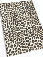 Animal Print Faux Suede Fabric Sheets