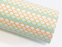 Mermaid scales A4 Leatherette Sheets