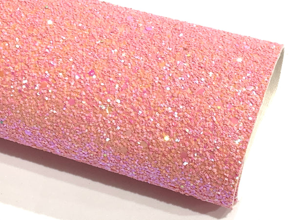 Lipstick Pink Chunky Glitter Fabric Sheet 1.0mm thickness A5 orA4 Sheet