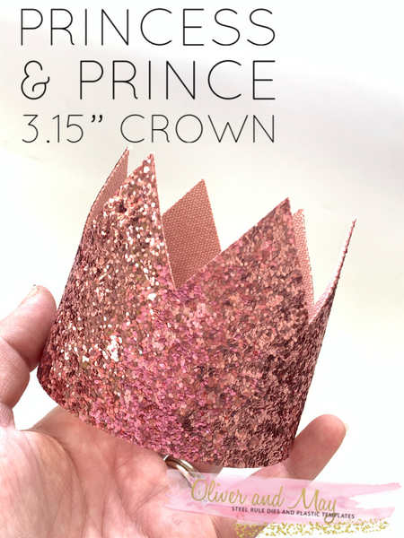 "3.15"" Princess & Prince Crown Steel Rule Die"