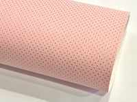 Fairy Pink with Fine Gold Embossed Dots Faux Leatherette