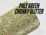 NEW! Pale Green Chunky Glitter Fabric Sheet