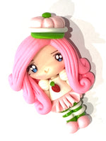 Strawberry Girl Bow Clay