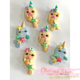 Pastel Narwhal Bow Clays
