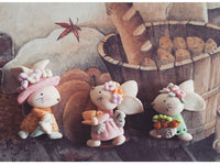 "Rabbit Family ""Enchanted""  Pre Order Bow Clays"