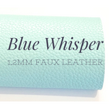 Blue Whisper Thick Textured Leatherette Sheet A4 Size PU Leather 1.2mm Thick Pale Blue Litchi Print Leatherette