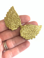 Gold Glitter Angel Wings 10 Pack