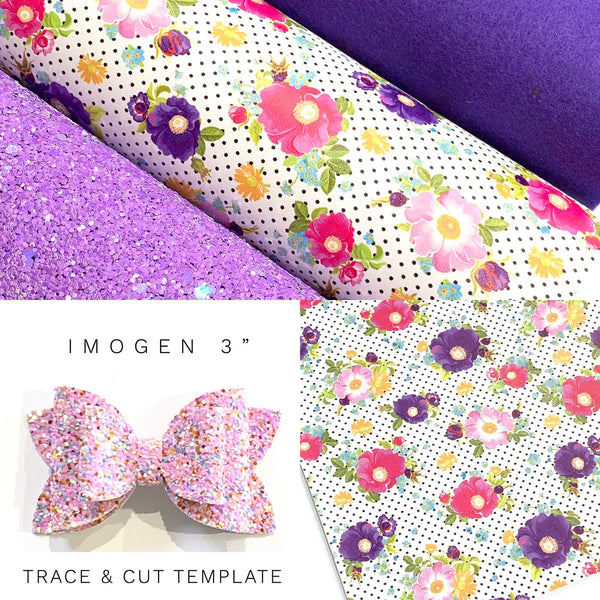 Purple Floral Bow Template Starter Kit