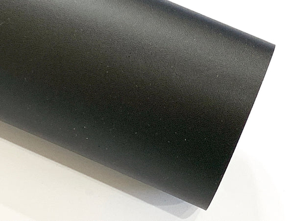 Smooth Black Thin Faux Smooth Leather Sheets 0.7 mm thickness | A4 Leatherette for Jewellery Makers