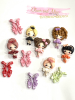 Ballet Slippers Bow Clay Embellishments