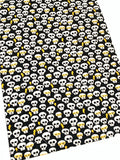 Halloween Glitter Skulls Fabric and Headband Bow Making Bundle