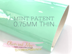 Mint Patent Leather A4 Sheet Glossy Smooth PU Leatherette - 0.75mm