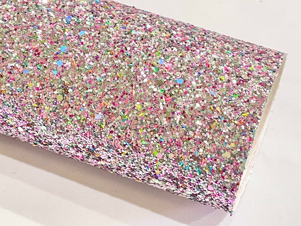 Dusty Rose Multicoloured Chunky Glitter with sprinkles of Baby Blue, Pink and Gold