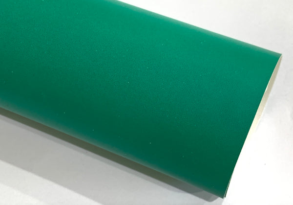Smooth Green Thin Faux Smooth Leather Sheets 0.7 mm thickness | A4 Leatherette for Jewellery Makers