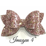 Imogen 4 inch Double Stacker Plastic Hairbow Trace and hand cut Template