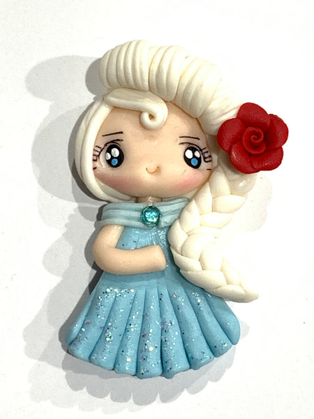 Elsa Bow Clay Embellishment