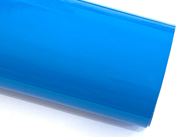 Bright Blue Patent Leather A4 Sheet Glossy Smooth PU Leatherette - 0.75mm