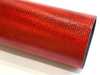 Red Holographic Metallic Leatherette Sheet