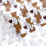 Reindeer Clear Transparent PVC 20x32cm Sheets