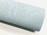 Floral Embossed Faux Leather Fabric Sheets