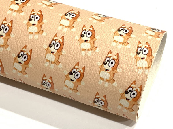 Bingo Dog Character A4 Faux Leather sheet