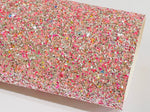 Pink Multicoloured Chunky Glitter with sprinkles of Baby Blue, Pink and Gold