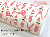 Pink Elf Faux Leatherette Fabric Sheet
