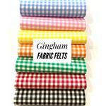 Gingham Fabric Felt Sheets - Individually or 7 Sheet Bundle