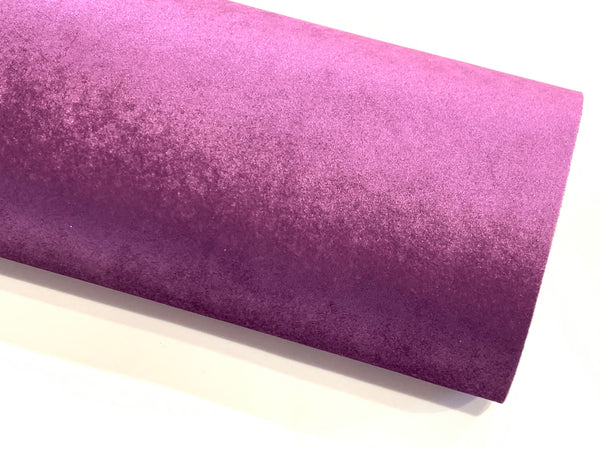 Eggplant Purple Velvet Fabric Sheet 0.9mm Sturdy for Bows - A4