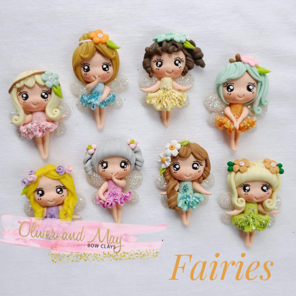 Fairies Bow Clays  - Fantasy Clay Maker Collection - Now in Stock