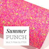 Summer Punch Pink Multicolour Chunky Glitter