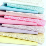 Summer Pastels Glitter and Leather Fabric Bundle