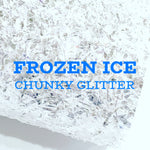 Frozen Ice Chunky Icicle Style Glitter Fabric Sheets A4