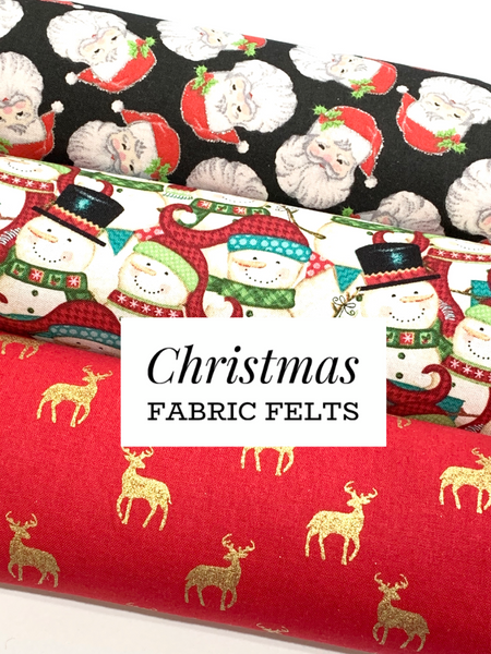 Christmas Collection Felt Fabric Sheets A4 - 3 Sheet Bundle or Individually