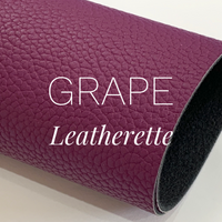 Grape Leatherette Sheet Thick 1.2mm