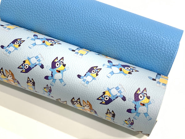 Bluey 2 Sheet Combo A4 Faux Leather sheet